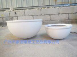 玻璃钢雕塑碗型花盆雕塑   圆形白色花盆  园林景观雕塑厂家直销