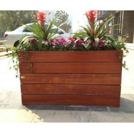 园艺木制花箱 工程隔离花箱组合 种树花盆定制