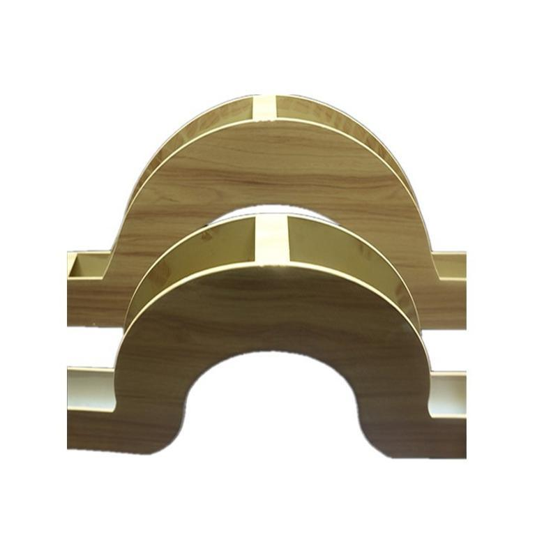 休閒會所戶外鋁方通幕牆 立體幕牆精品木紋鋁方管廠家定製
