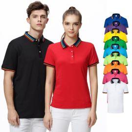 时尚POLO衫定做企业公司工装工作衣服 短袖T恤印LOGO班服订做logo