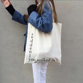 厂家定做环保购物袋帆布袋礼品袋整理袋简约手提袋可印制企业LOGO