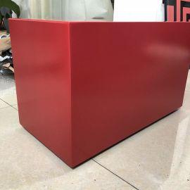 郑州2.5厚铝单板 红色氟碳铝板 包柱包梁铝板