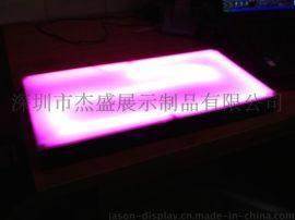 遥控变色:LED发光座,亚克力发光座,黑色底座发光盒