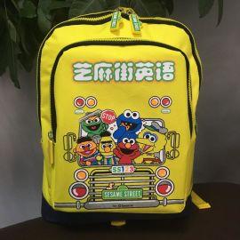 供应芝麻街英语双肩书包笔袋中小学幼儿园书包