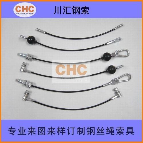 运动器材耐磨钢丝绳 包尼龙钢索专业生产厂家