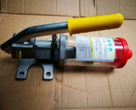 JS混凝土搅拌机手动润滑黄油泵 手动油脂泵厂家 锂基脂润滑泵
