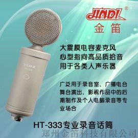 金笛HT-333 专业级录音麦克风超心形录音话筒