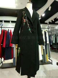 **【诗菲迪】双面羊绒 羊绒世家 女装品牌折扣库存尾货批发