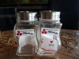銷售餐桌酒店用調味料玻璃瓶,胡椒粉瓶,椒鹽瓶