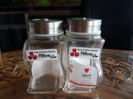 销售餐桌酒店用调味料玻璃瓶,胡椒粉瓶,椒盐瓶
