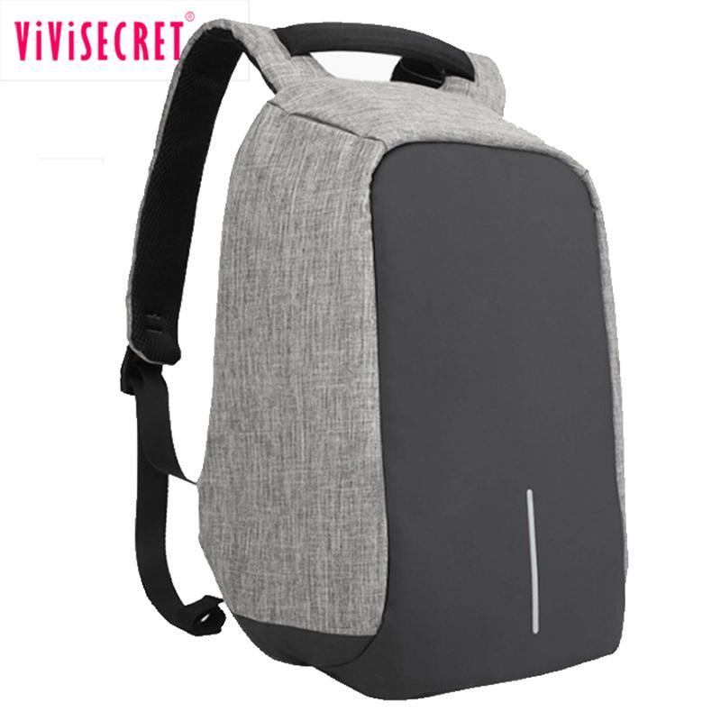 新款牛津布雙肩包男創意時尚電腦揹包usb充電休閒防盜揹包