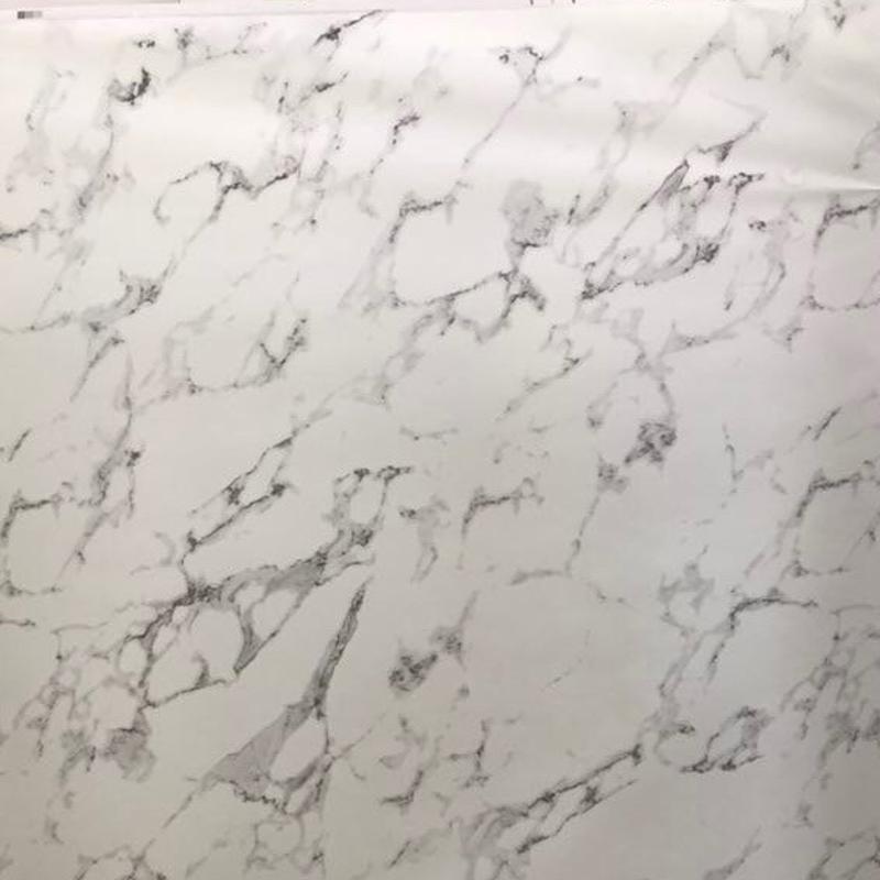 东莞定做爵士白 黑白根各色仿大理石台面宝丽纸 木纹纸无胶可喷漆
