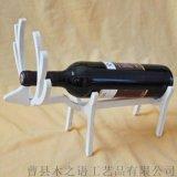 廠家直銷簡約風木質酒架創意葡萄酒單支展示臺來樣定製