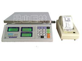台湾联贸电子计数秤 标签打印电子秤 条码称 不干胶打印电子桌秤