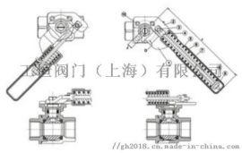工恒牌法兰式弹簧自动复位球阀-不锈钢阀门