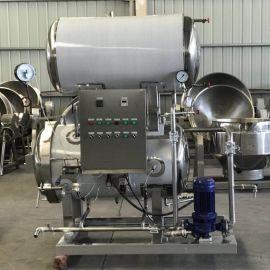 供应电加热双层杀菌锅 定制食品通用杀菌设备