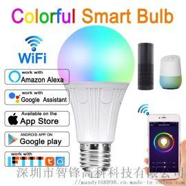 E27E26B22E1412W wifi智能球泡灯 七彩灯泡 大功率wifi灯泡 RGB+CW