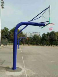 地埋式篮球架165圆管固定式篮球架 广鑫篮球架