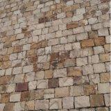 天然米黄色蘑菇石虎皮石蘑菇石不规则文化石铺地片石