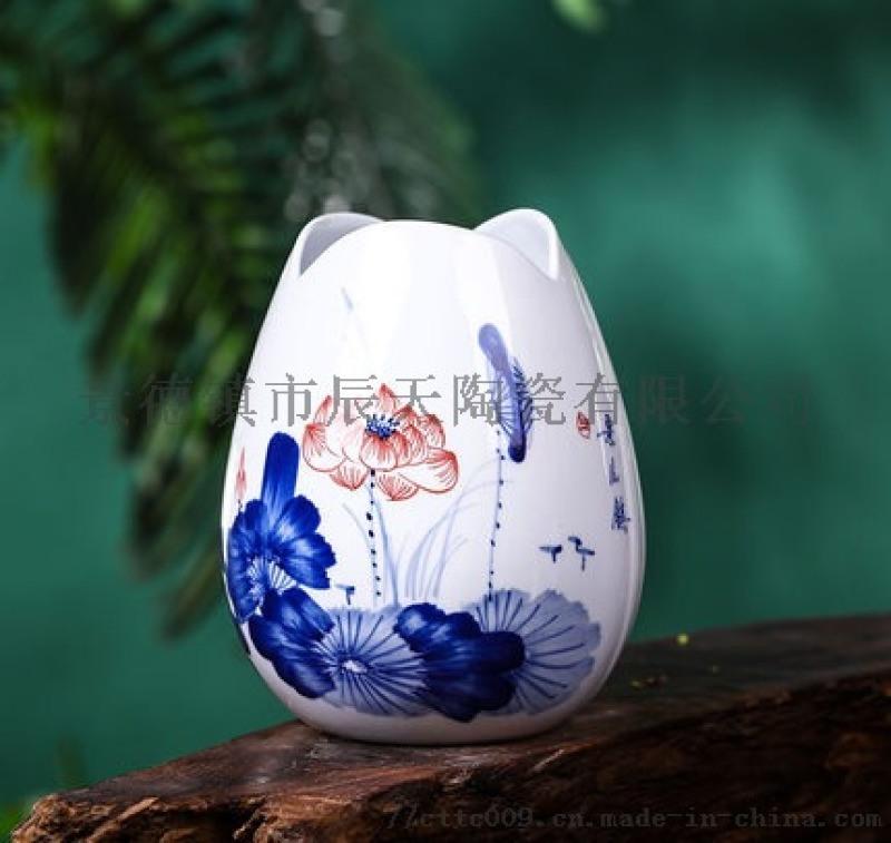 景德镇陶瓷器酒柜摆件家居装饰品花瓶古玩青花瓷