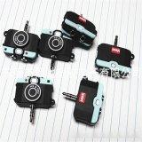 东莞厂家现模PVC软胶相机造型耳机分线器 可开模定制