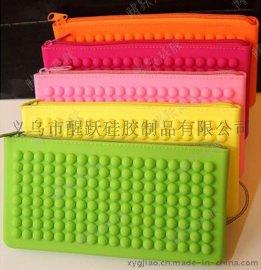 糖果色硅胶钱包 拉链横款手拿零钱包手机包 拉链钱包