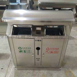 四川成都小区社区户外不锈钢分类垃圾桶垃圾箱工厂直销