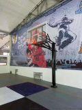 地埋式方管篮球框可升降室外落地式篮球架