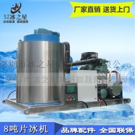 8吨片冰机水产屠宰冷藏保鲜降温大型工业制冰机厂家