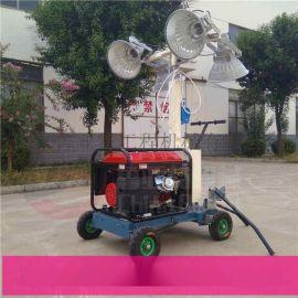 移动应急升降灯 手推式工程照明灯车