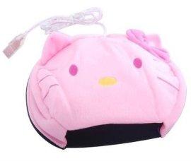 USB卡通动物暖手鼠标垫/保暖鼠标垫