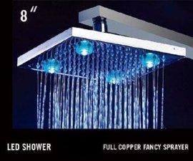 8寸铜温控LED花洒(HM-D001-1)