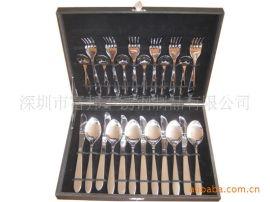 不锈钢西餐具 刀叉勺24件套