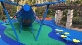 体育设施健身器材 公园儿童滑滑梯弹性地面