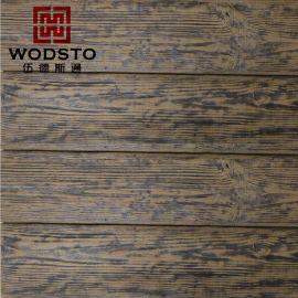 **爆款 古栈道水泥仿木地板 外墙仿木板板材 碳化木、人造木、塑木