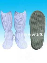 静电灰底鞋 灰色硬底靴 PVC高筒长筒靴 防砸鞋套 50码 52码 安全鞋套