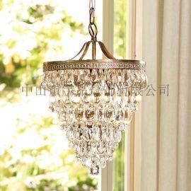 欧式现代灯客厅餐厅卧室过道长方形水晶吸顶灯 个性创意灯具灯饰