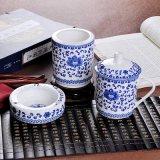 公司用陶瓷办公三件套,青花瓷茶杯,员工福利茶杯