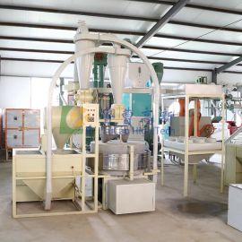 磨坊全自动石磨面粉机小型石磨磨面设备