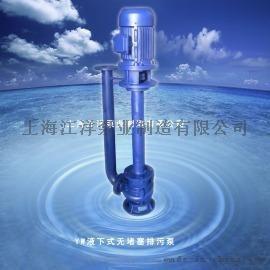 江洋泵业YW型液下式无堵塞排污泵 耐磨型立式液下泵