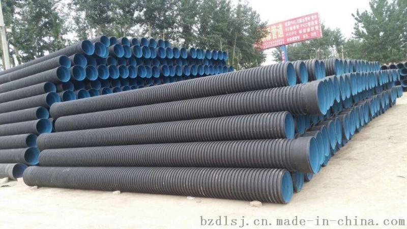 HDPE大口徑雙壁波紋管直徑400波紋管 環剛度8KN波紋管