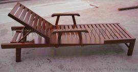 实木躺椅批发全国各地 沙滩椅可调节平躺休闲户外家具