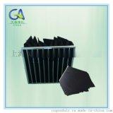 黑色活性炭去味中效袋式過濾器 效率