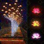 街道挂树LED荷花灯