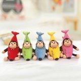 可愛香蕉猴子毛絨玩具抓機娃娃公仔廠家來圖定製加工