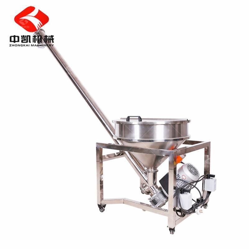 供应ZK牌化工粉剂提升机 粉剂螺旋上料机 不锈钢高效螺旋上料机