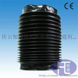 不锈钢丝圈黑色尼龙布气缸防尘保护套