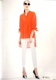 健凡服饰折扣女装蝴蝶结衬衫批发夏季新款到货一手货源走份