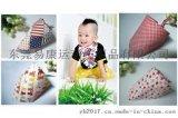 厂家订制儿童三角巾婴儿口水巾头巾围兜纯棉纱布多色