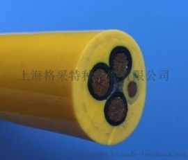 銀礦山電動鏟運機電纜TPU聚氨酯捲筒電纜耐拖拽抗扭